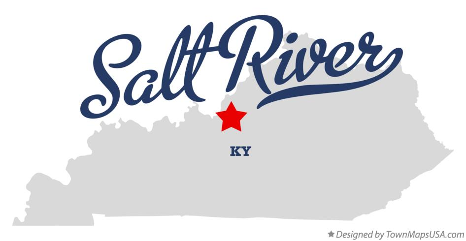 Map of Salt River Kentucky KY