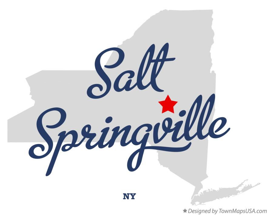 Map of Salt Springville New York NY