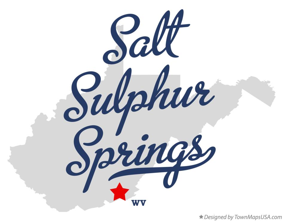 Map of Salt Sulphur Springs West Virginia WV
