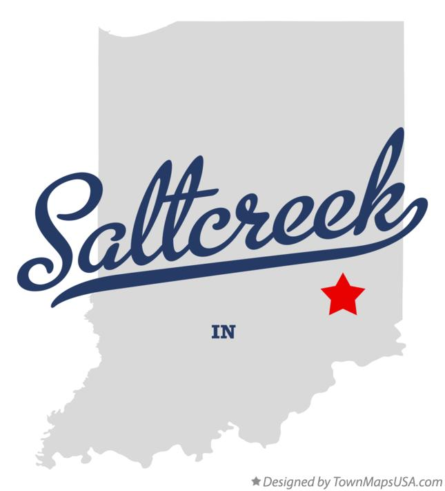 Map of Saltcreek Indiana IN