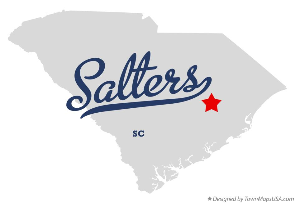 Map of Salters South Carolina SC