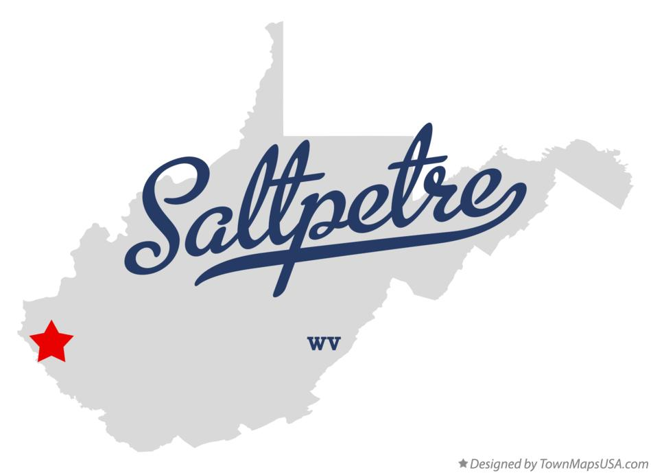 Map of Saltpetre West Virginia WV