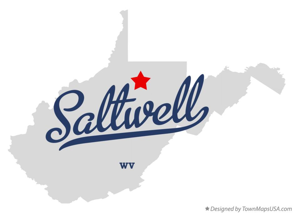 Map of Saltwell West Virginia WV