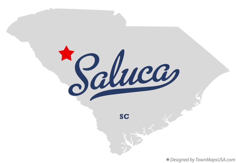 Map of Saluca South Carolina SC