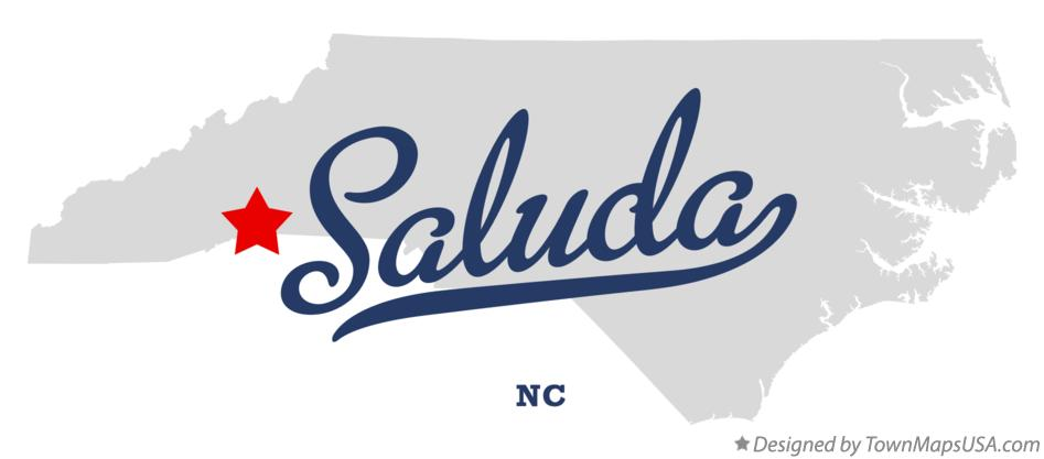 Map of Saluda North Carolina NC