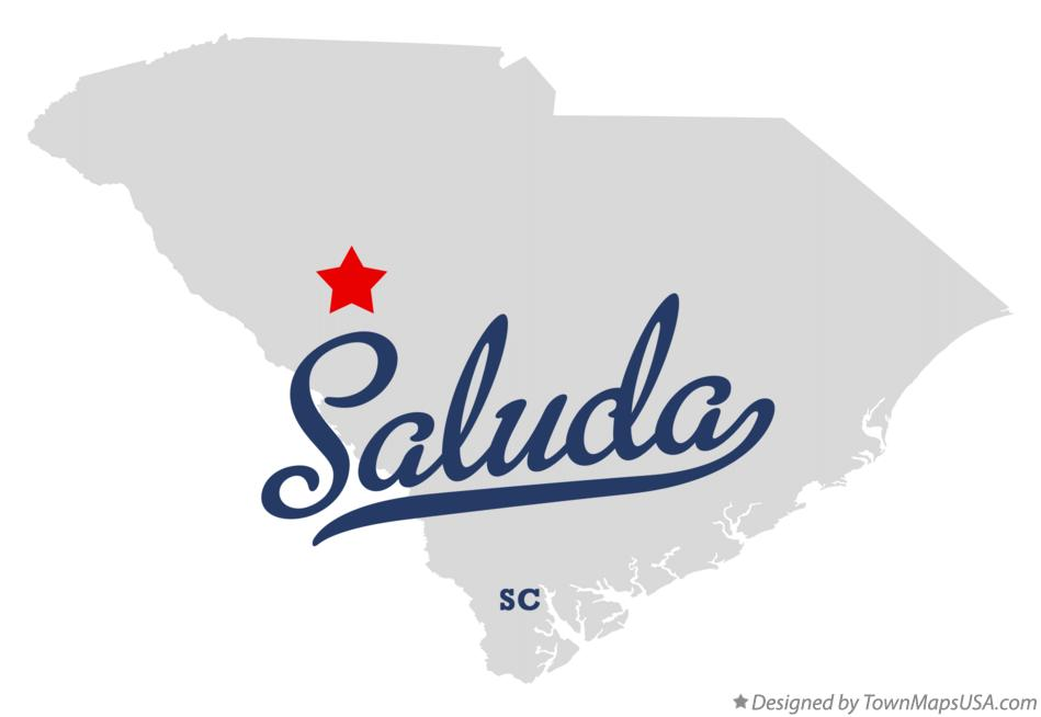 Map of Saluda South Carolina SC