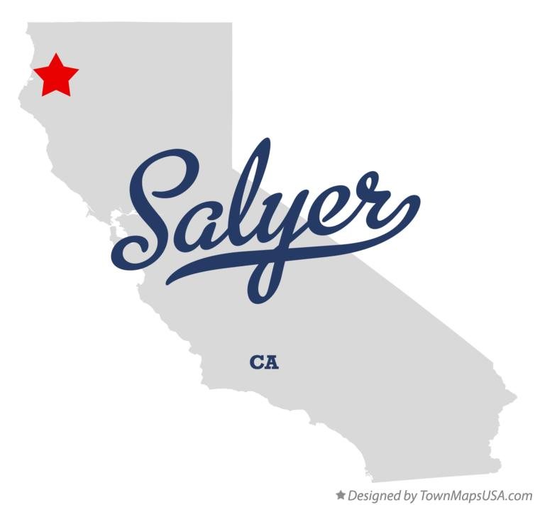 Map of Salyer California CA