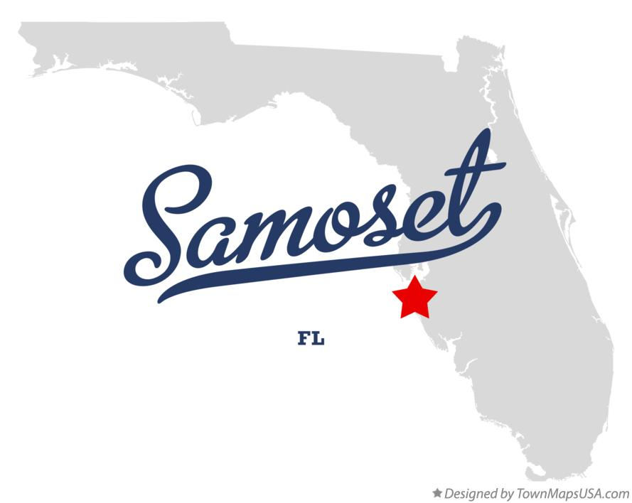 Map of Samoset Florida FL