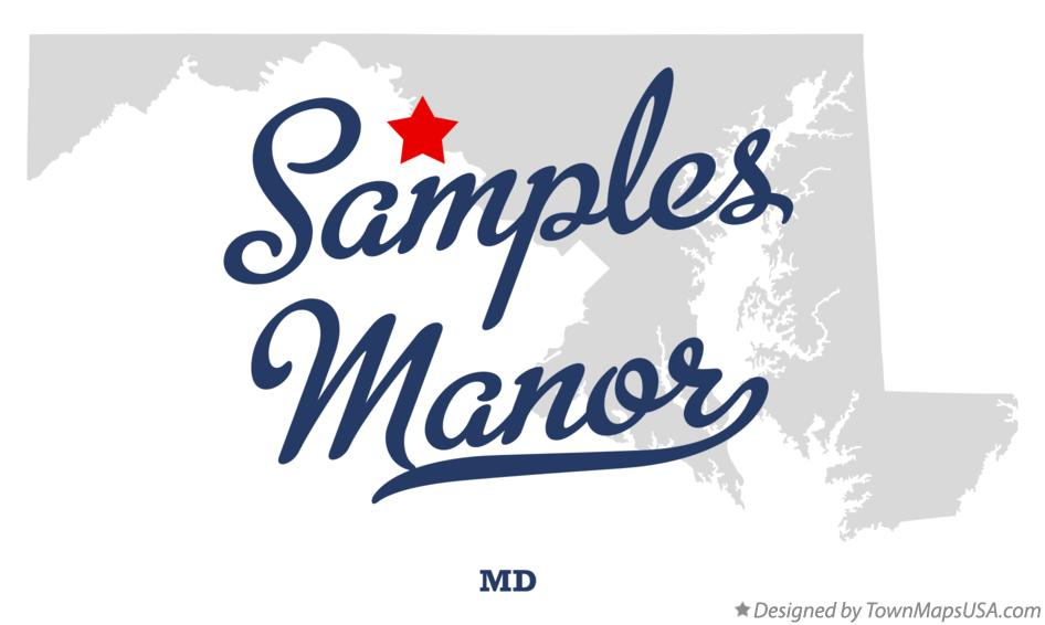 Map of Samples Manor Maryland MD