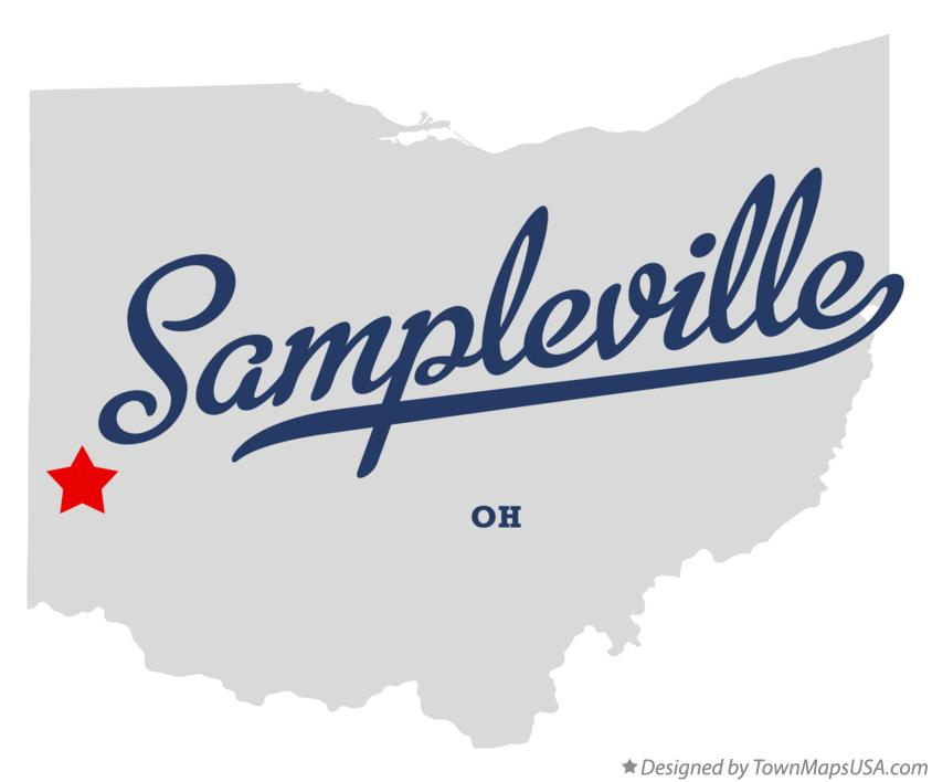 Map of Sampleville Ohio OH