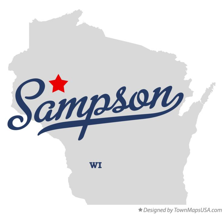 Map of Sampson Wisconsin WI