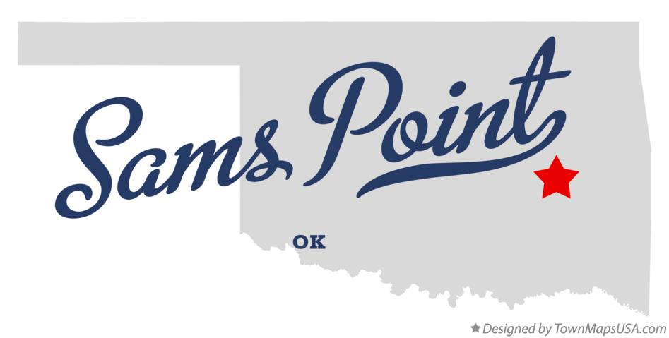 Map of Sams Point Oklahoma OK