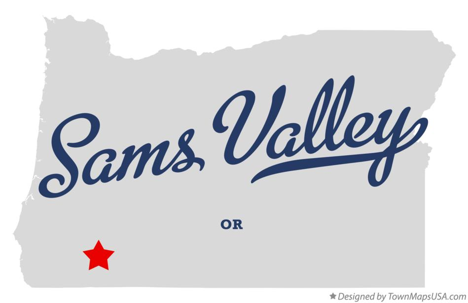 Map of Sams Valley Oregon OR