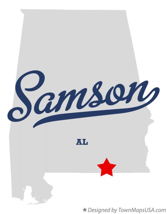 Map of Samson Alabama AL