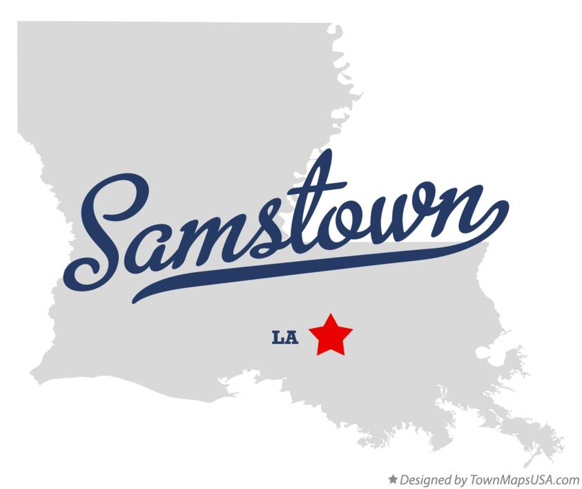 Map of Samstown Louisiana LA