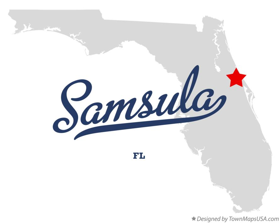 Map of Samsula Florida FL