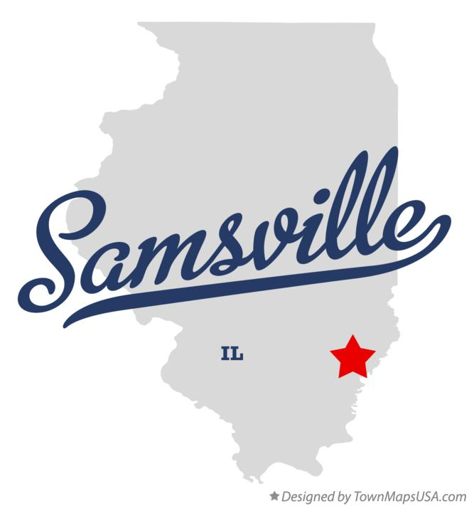 Map of Samsville Illinois IL