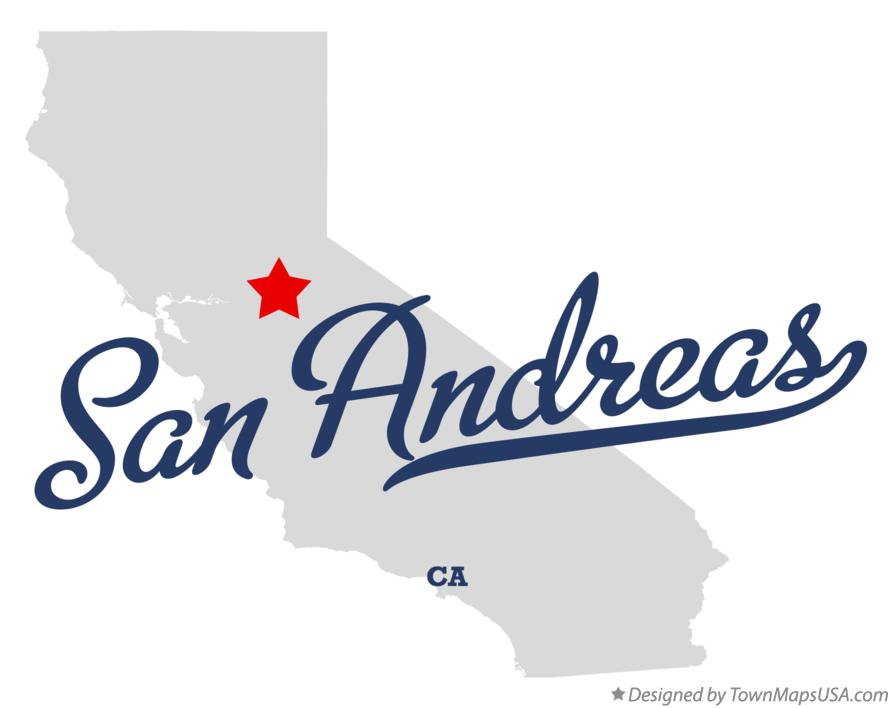 Map of San Andreas California CA