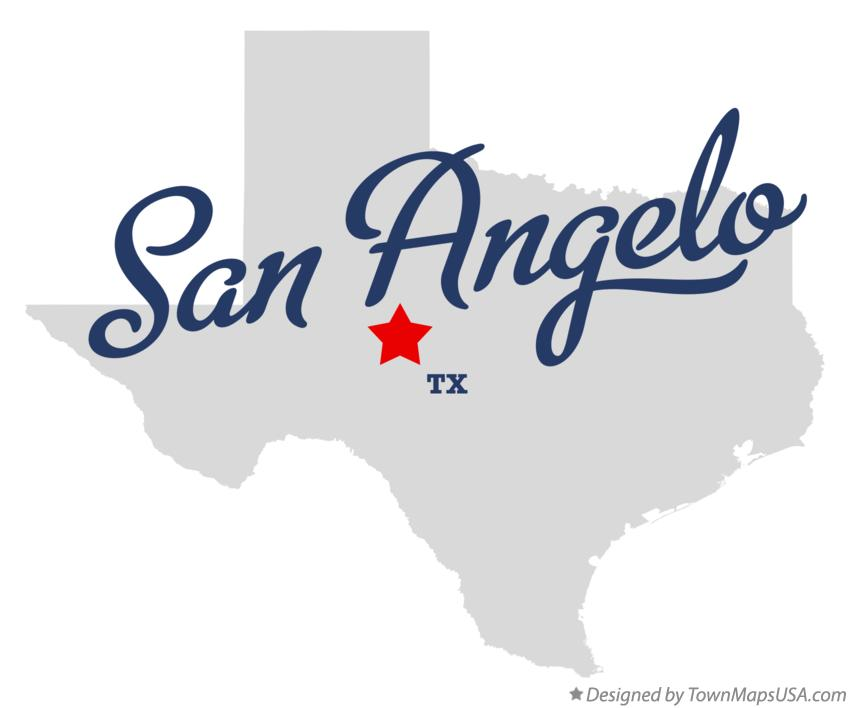 Where Is San Angelo Texas On The Map