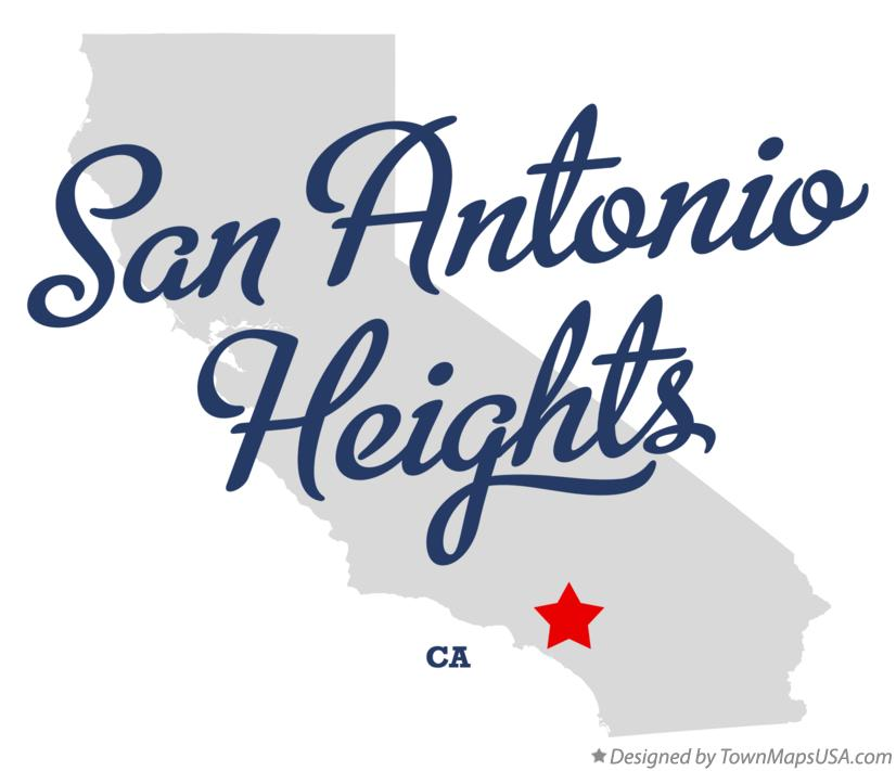 Map of San Antonio Heights California CA