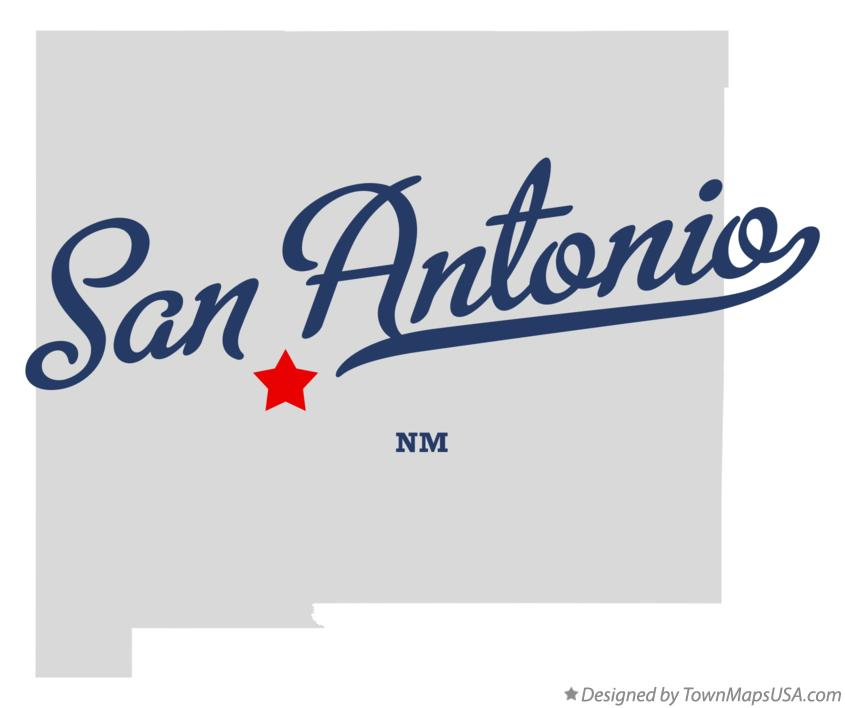 Map of San Antonio New Mexico NM