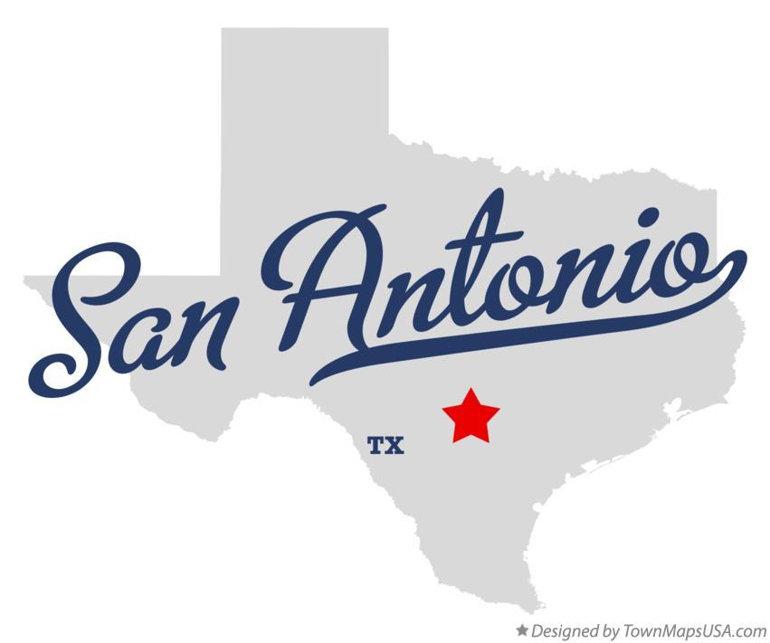 San Antonio Texas On A Map