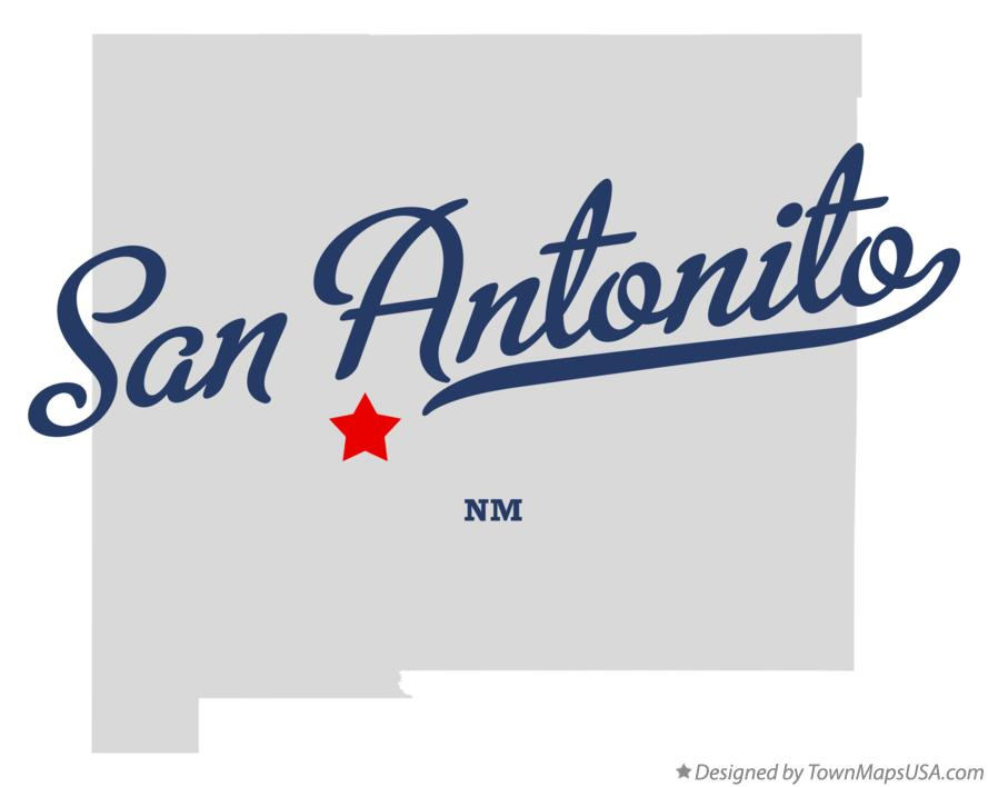 Map of San Antonito New Mexico NM
