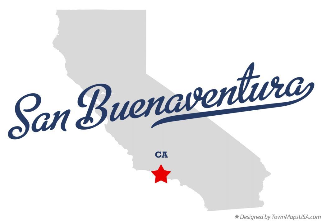 Map of San Buenaventura CA California