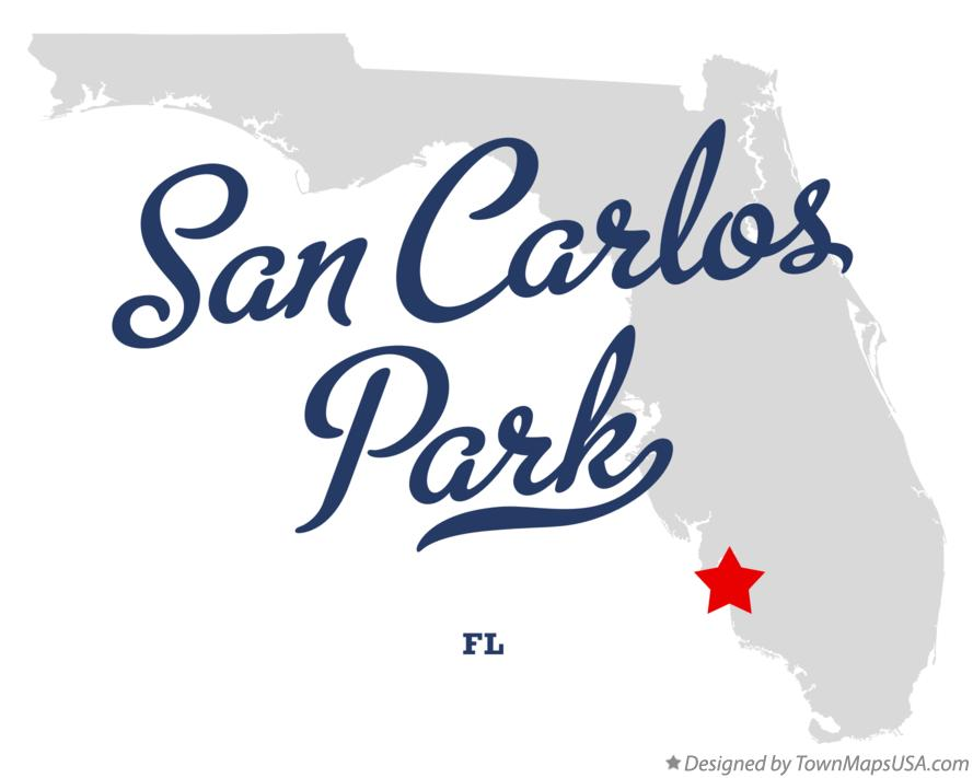 Map of San Carlos Park Florida FL