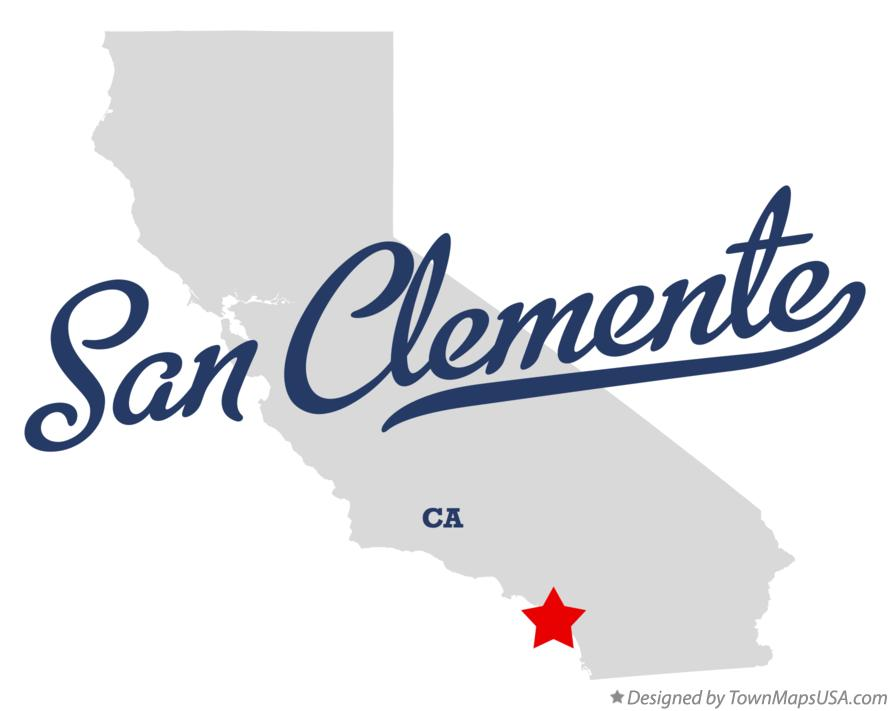Map of San Clemente California CA