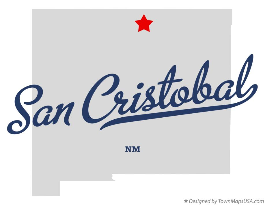 Map of San Cristobal New Mexico NM