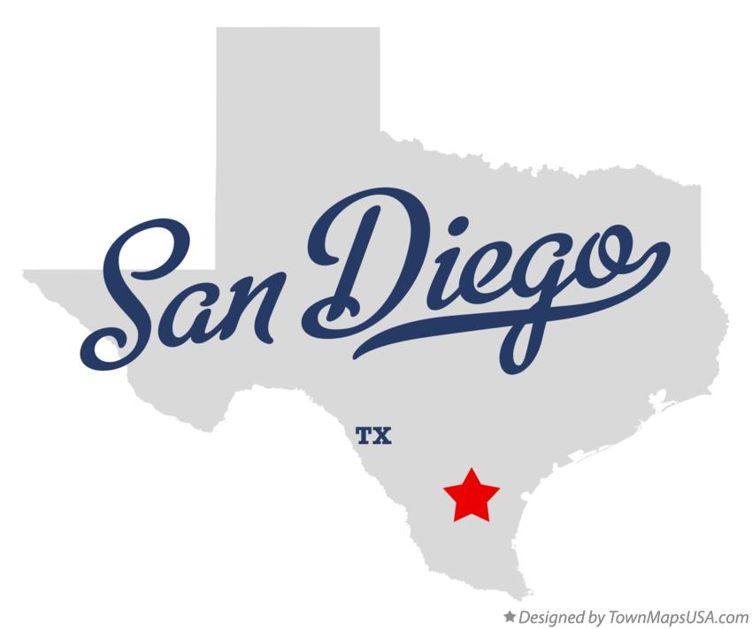 Map of San Diego Texas TX