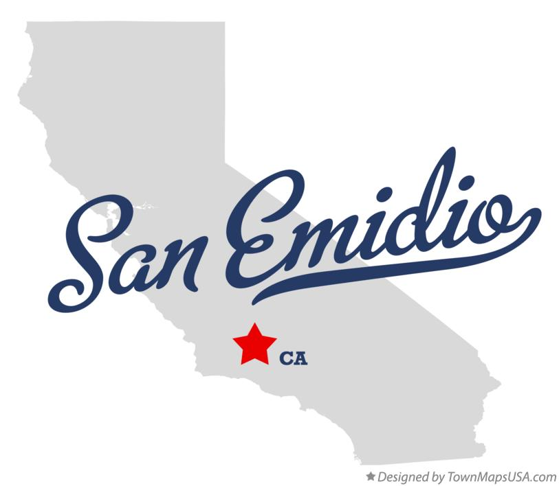 Map of San Emidio California CA