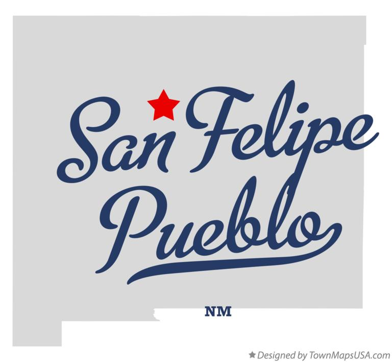 Map of San Felipe Pueblo New Mexico NM