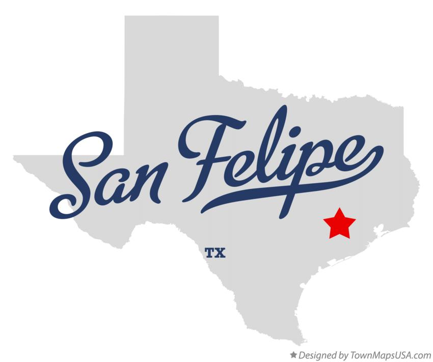 Map of San Felipe Texas TX