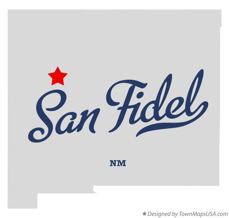 Map of San Fidel New Mexico NM