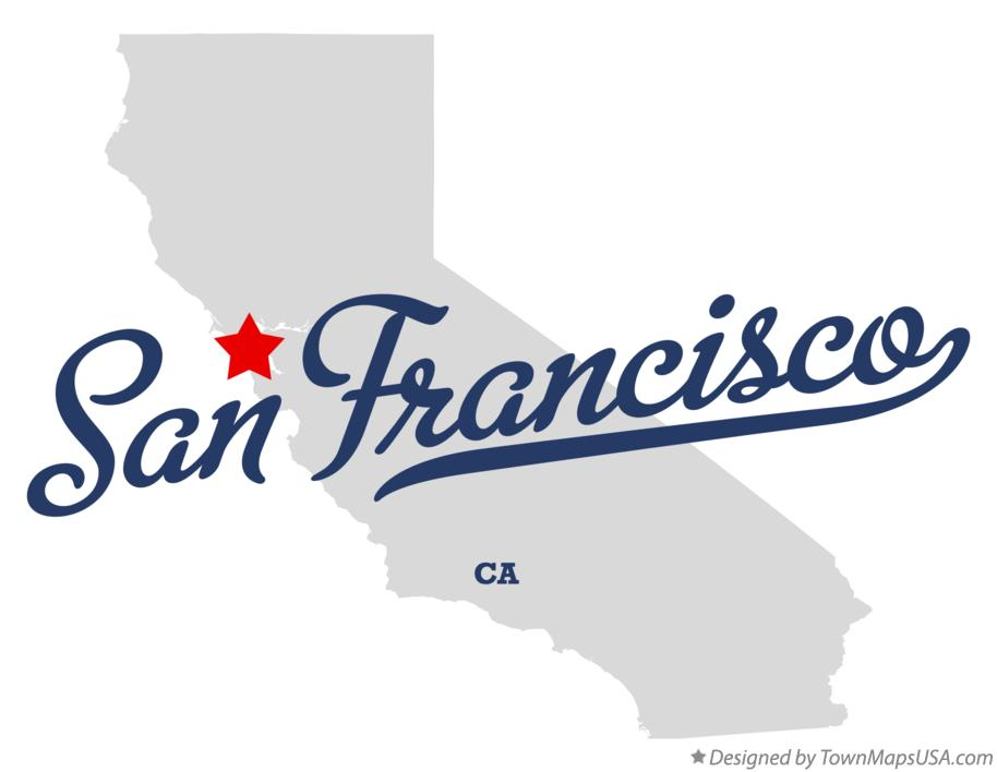 Map Of San Francisco Ca California