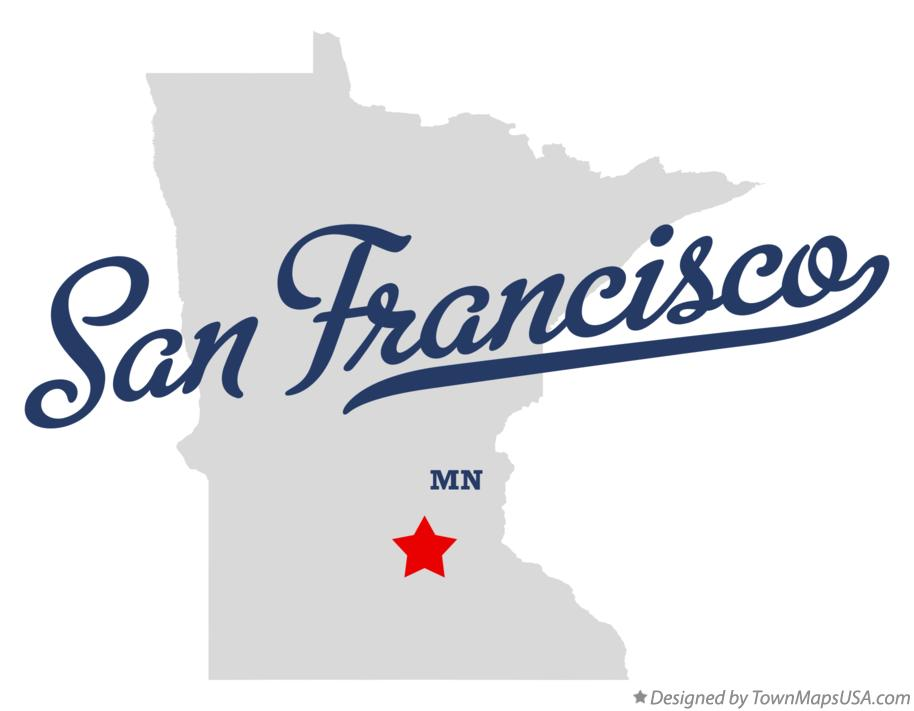 Map of San Francisco Minnesota MN