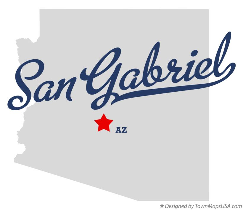 Map of San Gabriel Arizona AZ