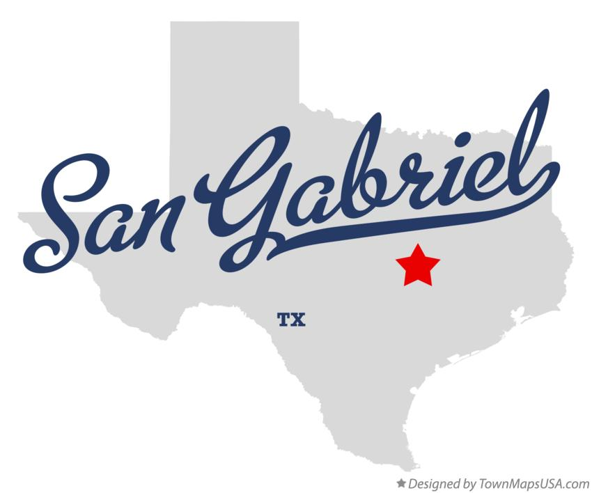 Map of San Gabriel Texas TX