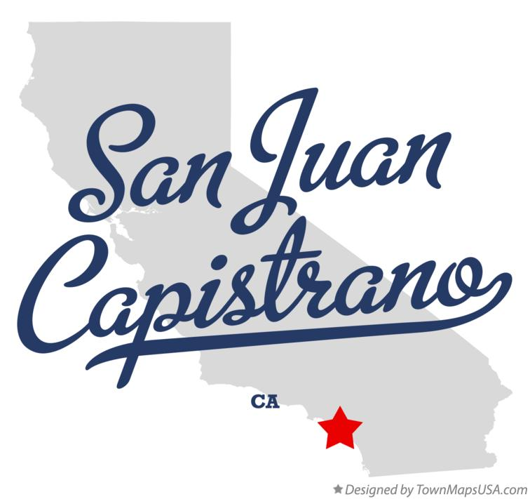 Map Of San Juan Capistrano Ca California