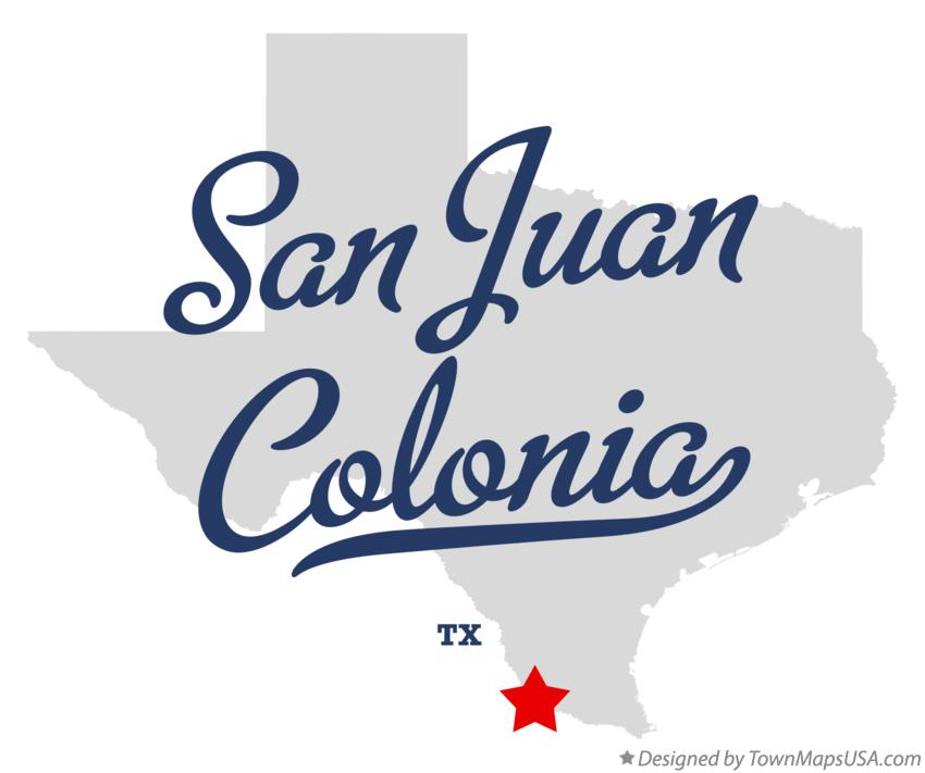 Map of San Juan Colonia Texas TX