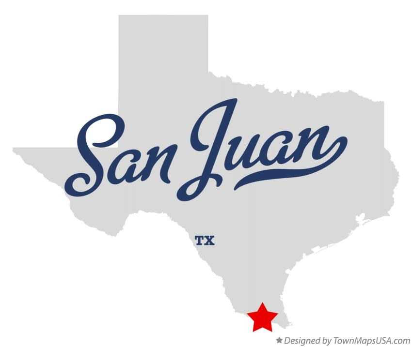 Map of San Juan Texas TX