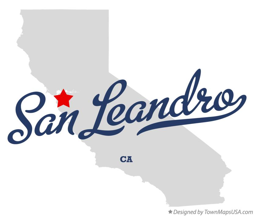 Map Of San Leandro Ca California