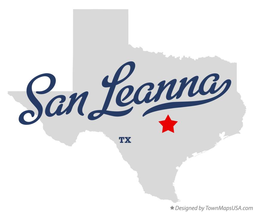 Map of San Leanna Texas TX