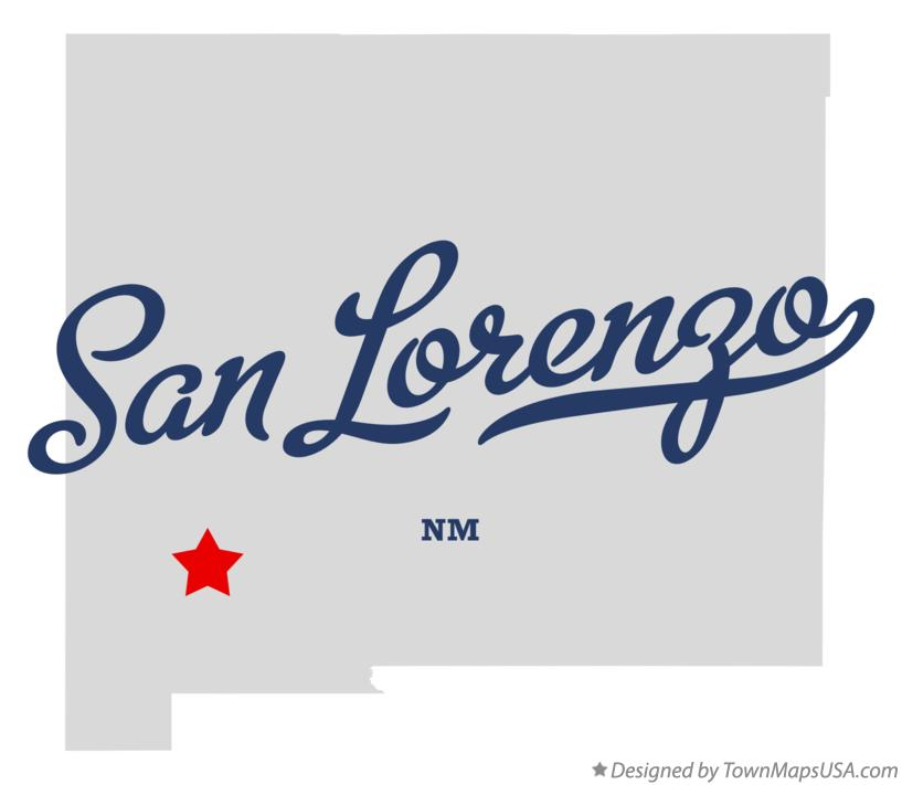 Map of San Lorenzo New Mexico NM
