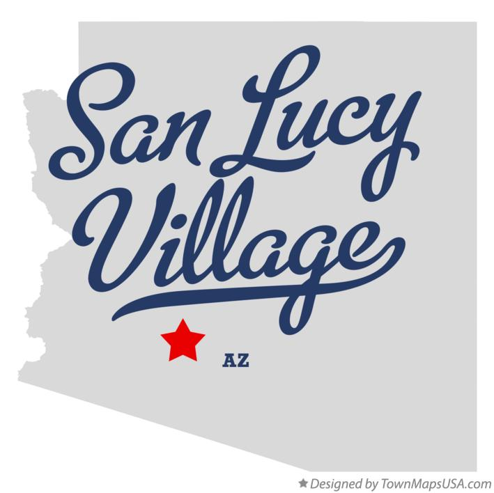 Map of San Lucy Village Arizona AZ
