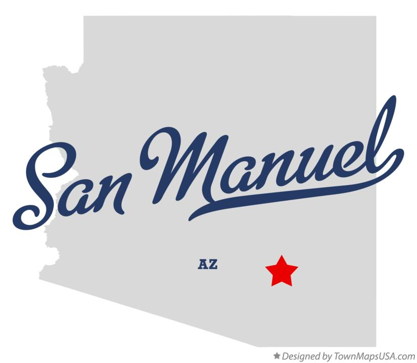 Map of San Manuel Arizona AZ