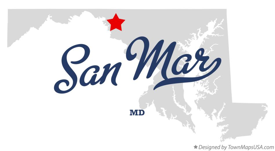 Map of San Mar Maryland MD