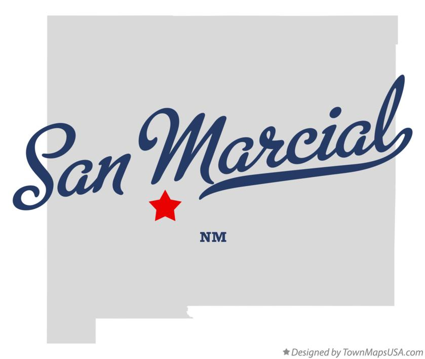 Map of San Marcial New Mexico NM